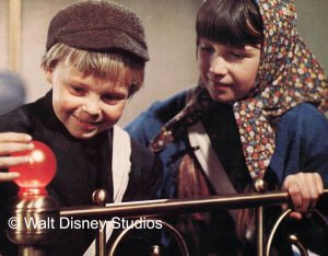 A still from Bedknobs and Broomsticks starring Angela Lansbury.